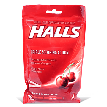 Halls Cough Suppressant Cherry Drops