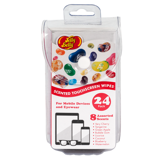 Jelly Belly Scented Touchscreen Wipes, 24 Count