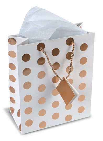 Gift Bag with Tissue and Note Card - Perfect for weddings, birthdays, bridal showers, holidays