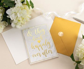 Wedding Card and Envelope, Assorted Designs