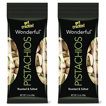 Wonderful Pistachios, Roasted and Salted, 2 Pack