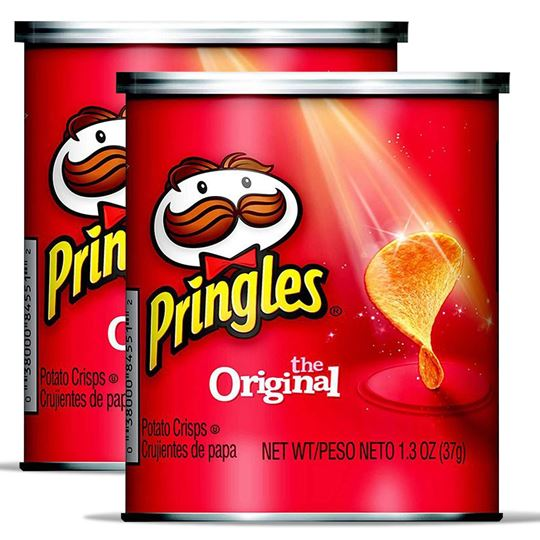 Pringles Potato Crisps, Original 1.5 oz., 2 pack