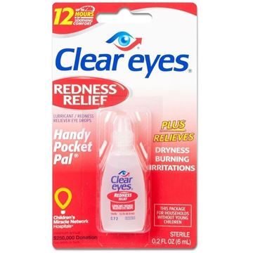Clear Eyes Redness Relief, Travel Size, 0.2 fl. oz.