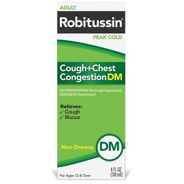 Robitussin Cough and Chest Congestion DM, 4 fl. oz.