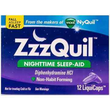 ZzzQuil Nighttime Sleep-Aid, 12 LiquiCaps