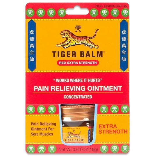 Tiger Balm Extra Pain Relieving Ointment, .63 oz.