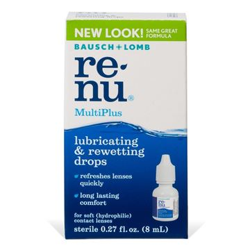 renu MultiPlus Contact Lens Lubricating and Rewetting Drops, 0.27 fl. oz.