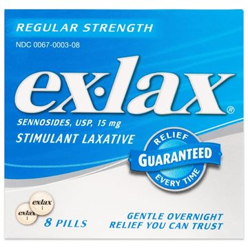 Ex-Lax Stimulant Laxative, 8 Pills