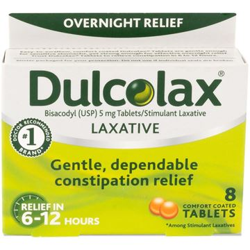 Dulcolax Laxative Tablets, 8 Tablets