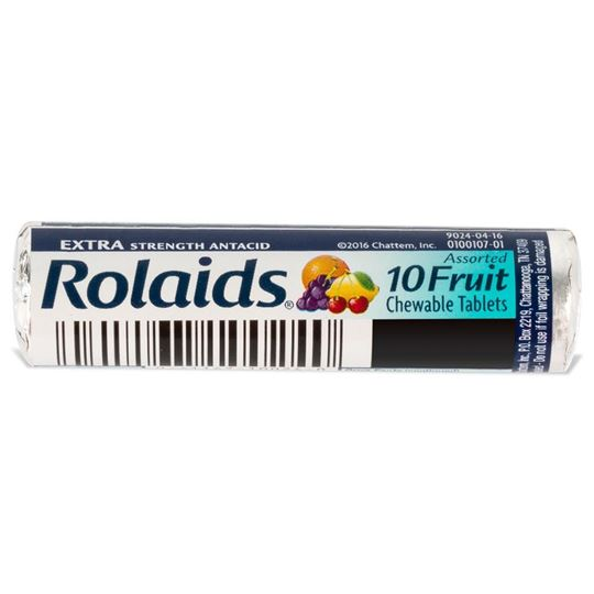 Rolaids Chewable Antacid Tablets, 10 Tablets