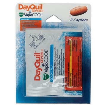 DayQuil Cold and Flu Medicine, 2 Caplets
