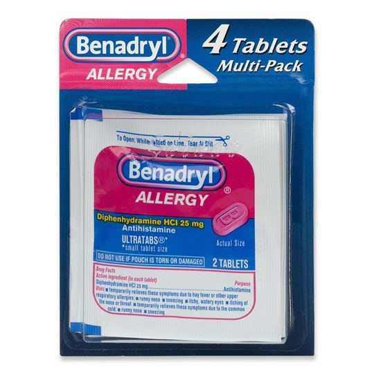 Benadryl Allergy Medicine, 4 Tablets