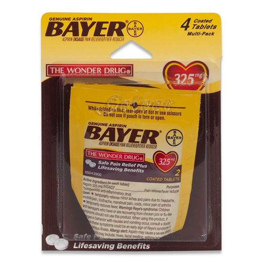 Bayer Aspirin Pain Reliever, 4 Tablets