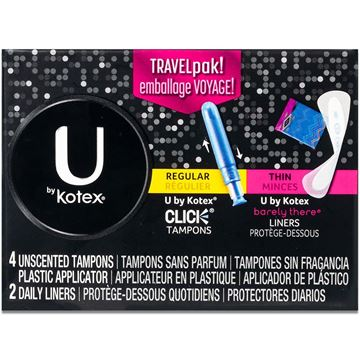 Kotex Tampons and Liners Travel Pack
