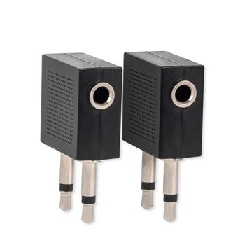 Airline Audio Adapter, 2 Pack