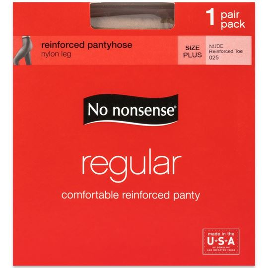 Picture of No Nonsense Regular Pantyhose, Nude, Size Plus