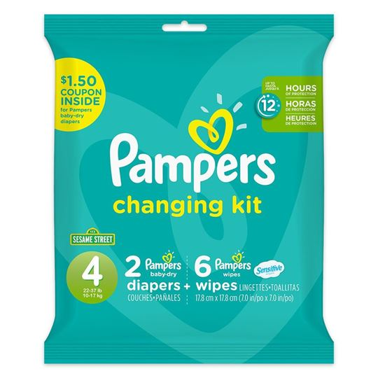 Pampers Changing Kit, 4 Months